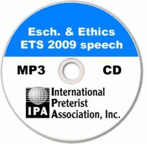 Eschatology & Ethics – ETS (1 track)