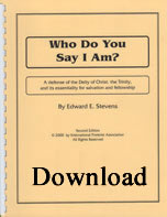 Who Do You Say I AM? (PDF download)