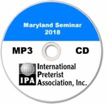 Maryland Seminar 2018 (MP3 CD)
